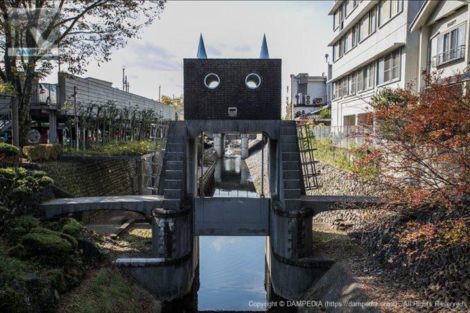 ロボット水門の上流面