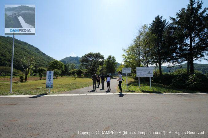 湯田貯砂ダム駐車場