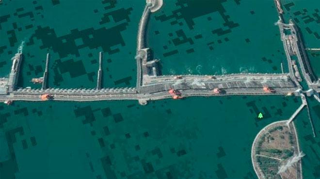 三峡ダム旧Googleアース写真その2