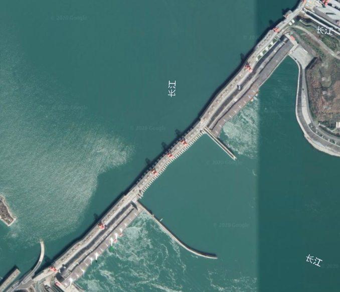 三峡ダム旧Googleアース写真その1