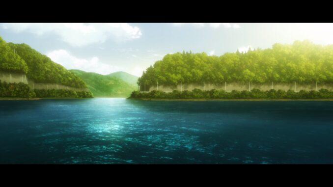 天端より貯水池を望む
