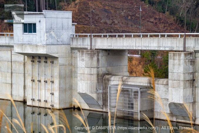 洪水吐と取水設備のアップ