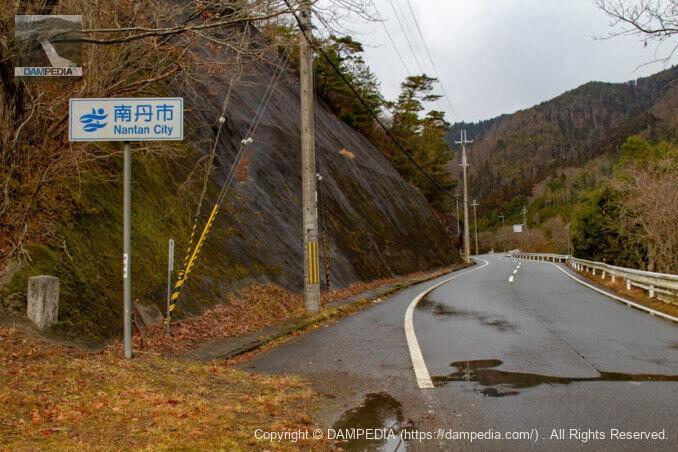 右岸より北西(日吉・世木ダム方面)を見る