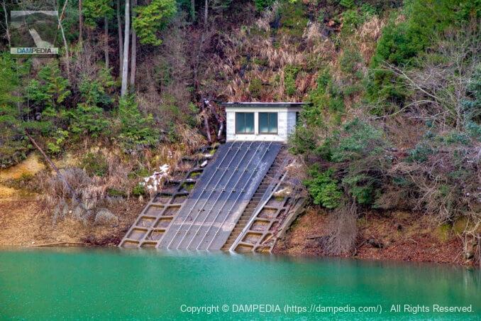 左岸の取水設備