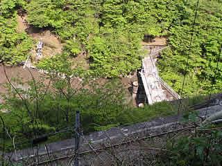 井川線と堤体