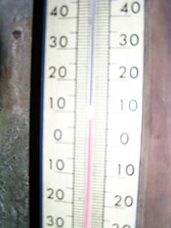 現在の堤体内の温度は8℃