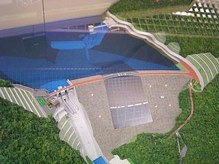 堤体付近の模型