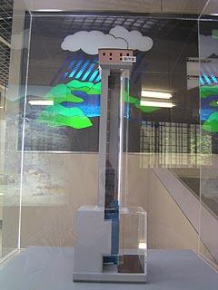 選択取水塔の模型