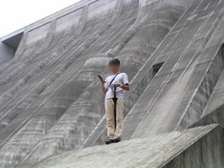 小里川ダム・下流見学